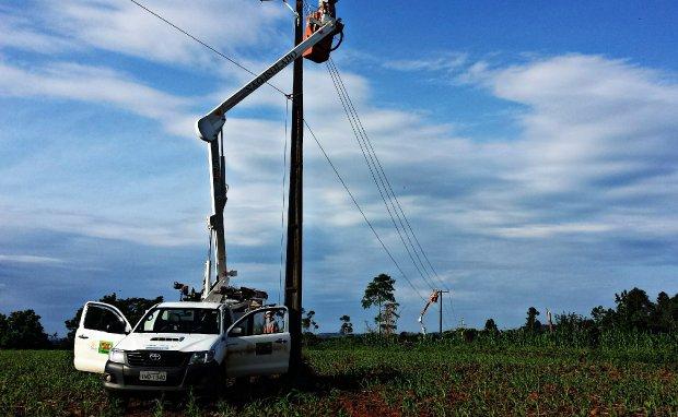 Áreas rurais recebem melhorias na rede de alta tensão em São João do Itaperiú. Foto: Reprodução